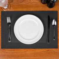 Snap Drape PMTAOC512 Cityscape 18 inch x 12 inch Taos Charcoal PVC Placemat - 12/Pack