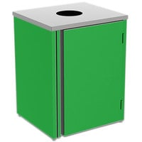 Lakeside 3410 Stainless Steel Refuse Station with Top Access and Green Laminate Finish - 26 1/2 inch x 23 1/4 inch x 34 1/2 inch