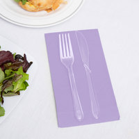 Creative Converting 95193 Luscious Lavender Purple 3-Ply Guest Towel / Buffet Napkin - 192/Case
