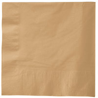 Creative Converting 583276B Glittering Gold 3-Ply 1/4 Fold Luncheon Napkin - 500/Case