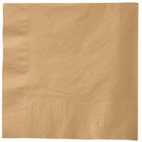 Creative Converting 583276B Glittering Gold 3-Ply 1/4 Fold Luncheon Napkin - 500/Case