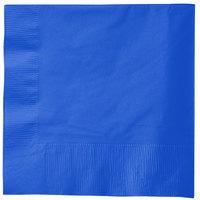 Creative Converting 583147B Cobalt Blue 3-Ply 1/4 Fold Luncheon Napkin - 500/Case