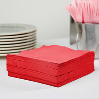 Creative Converting 581031B Classic Red 3-Ply 1/4 Fold Luncheon Napkin - 500/Case