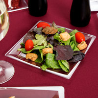 WNA Comet MS75CL 6 3/4 inch Clear Square Milan Plastic Salad Plate - 12/Pack