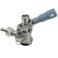 Micro Matic 7485SS D System Type 304 Stainless Steel Beer Keg Coupler with Gray Lever Handle