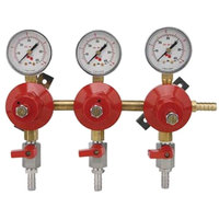 Micro Matic 8033 Economy Series Triple Gauge Secondary CO2 Low-Pressure Regulator