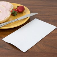 Creative Converting 95000 White 3-Ply Guest Towel / Buffet Napkin - 192/Case