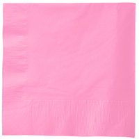 Creative Converting 583042B Candy Pink 3-Ply 1/4 Fold Buffet Napkin - 500 / Case