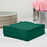 Creative Converting 583124B Hunter Green 3-Ply 1/4 Fold Luncheon Napkin - 500/Case