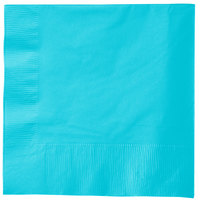 Creative Converting 581039B Bermuda Blue 3-Ply 1/4 Fold Luncheon Napkin - 500/Case
