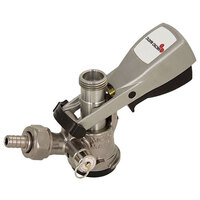 Micro Matic 7486SS S System Beer Keg Coupler with Gray Ergo Lever Handle and Type 304 Stainless Steel Probe