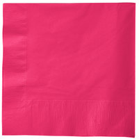 Creative Converting 58177B Hot Magenta Pink 3-Ply 1/4 Fold Luncheon Napkin   - 500/Case