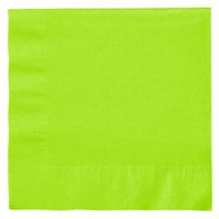 Creative Converting 663123B Fresh Lime 2-Ply 1/4 Fold Luncheon Napkin - 600 / Case