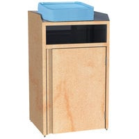 Lakeside 4410 Stainless Steel Refuse Station with Front Access and Hard Rock Maple Laminate Finish - 26 1/2 inch x 23 1/4 inch x 45 1/2 inch