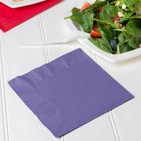 Creative Converting 139371135 Purple 2-Ply 1/4 Fold Luncheon Napkin - 600/Case