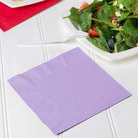 Creative Converting 139186135 Luscious Lavender Purple 2-Ply 1/4 Fold Luncheon Napkin - 600/Case