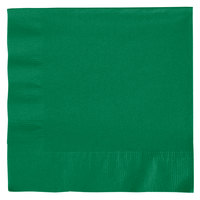 Creative Converting 139184135 Emerald Green 2-Ply 1/4 Fold Luncheon Napkin - 600/Case