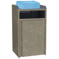Lakeside 4410 Stainless Steel Refuse Station with Front Access and Beige Suede Laminate Finish - 26 1/2 inch x 23 1/4 inch x 45 1/2 inch