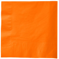 Creative Converting 58191B Sunkissed Orange 3-Ply 1/4 Fold Luncheon Napkin   - 500/Case