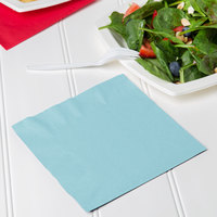 Creative Converting 139179135 Pastel Blue 2-Ply 1/4 Fold Luncheon Napkin   - 600/Case