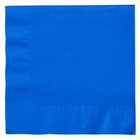 Creative Converting 663147B Cobalt 2-Ply 1/4 Fold Luncheon Napkin - 600 / Case