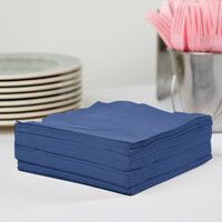 Creative Converting 581137B Navy Blue 3-Ply 1/4 Fold Luncheon Napkin - 500/Case