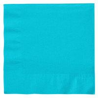 Creative Converting 661039B Bermuda Blue 2-Ply 1/4 Fold Luncheon Napkin - 600 / Case