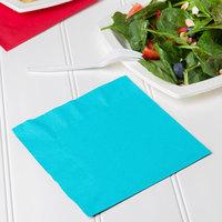 Creative Converting 661039B Bermuda Blue 2-Ply 1/4 Fold Luncheon Napkin - 600/Case