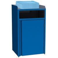 Lakeside 4410 Stainless Steel Refuse Station with Front Access and Royal Blue Laminate Finish - 26 1/2 inch x 23 1/4 inch x 45 1/2 inch