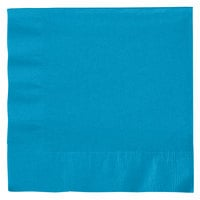 Creative Converting 663131B Turquoise Blue 2-Ply 1/4 Fold Luncheon Napkin - 600/Case