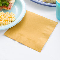 Creative Converting 663276B Glittering Gold 2-Ply 1/4 Fold Luncheon Napkin - 600/Case