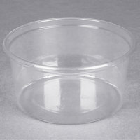 Choice 12 oz. Ultra Clear PET Plastic Round Deli Container - 500/Case