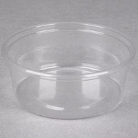 Choice 8 oz. Ultra Clear Plastic Round Deli Container - 500/Case