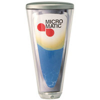 Micro Matic C100-4-M 4 inch Clear Plastic Branding on Demand Beer Tap Handle with Metal Cap