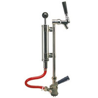 Micro Matic 7520J-9 8 inch Chrome Supreme Picnic Pump with Pressure Relief Valve and Chrome-Plated Faucet - S System