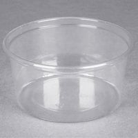 Choice 12 oz. Clear Plastic Round Deli Container - 50/Pack