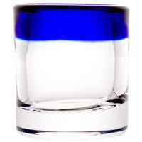Libbey 92311 Aruba 2.5 oz. Rocks Shot Glass with Cobalt Blue Rim - 24/Case