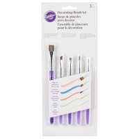 Wilton 1907-1352 5 Piece Decorating Brush Set