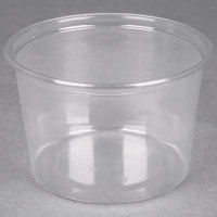 Choice 16 oz. Clear Plastic Round Deli Container - 50/Pack