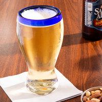 Libbey 92316 Aruba 16 oz. Beer Glass with Cobalt Rim - 12/Case