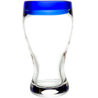 Libbey 92312 Aruba 12 oz. Beer Glass with Cobalt Rim - 12/Case
