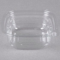 8 oz. Square Recycled PET Deli Container - 50/Pack