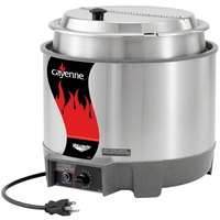 Vollrath 72018 Cayenne 7 Qt. Round Heat n' Serve Rethermalizer / Warmer Package with Inset and Cover - 120V, 800W