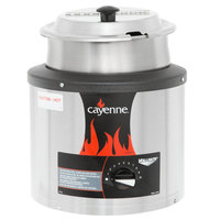 Vollrath 72430 Cayenne 4 Qt. Warmer Package with Inset and Hinged Cover - 120V, 350W
