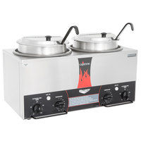 Vollrath 72029 Cayenne Twin Well 7 Qt. Rethermalizer / Warmer Package with Insets, Covers, and Ladles - 120V, 1400W
