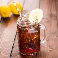 Acopa 16 oz. County Fair Mason Jar / Drinking Jar with Handle - 12/Case