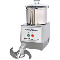 Robot Coupe R602Y Commercial Food Processor with 7 Qt. Stainless Steel Bowl - 2 hp