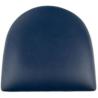 Lancaster Table & Seating Spartan Series Chair / Barstool 2 1/2 inch Navy Vinyl Padded Seat