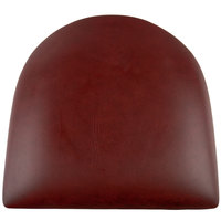 Lancaster Table & Seating Spartan Series Chair / Barstool 2 1/2 inch Burgundy Vinyl Padded Seat