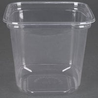 D&W Fine Pack SD24N FreshServe 24 oz. Square PLA Biodegradable / Compostable Plastic Clear Deli Container - 500/Case